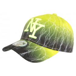 Casquette NY Jaune et Noire Originale Baseball Tendance Eclyr CASQUETTES Hip Hop Honour