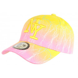 Casquette NY Jaune et Rose Originale Fashion Baseball Eclyr CASQUETTES Hip Hop Honour