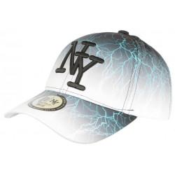 Casquette NY Noire et Blanche Design Original Tendance Baseball Eclyr CASQUETTES Hip Hop Honour