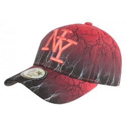 Casquette Enfant Rouge et Noire Eclyr Fashion NY Baseball de 7 à 12 ans Casquette Enfant Hip Hop Honour