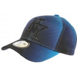 Casquette NY Bleue et Noire Vintage Seventies Originale Baseball Heptys CASQUETTES Hip Hop Honour