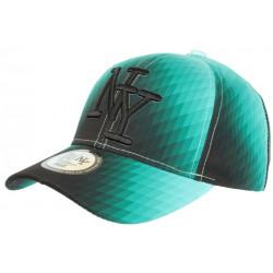 Casquette NY Verte et Noire Vintage Seventies Originale Baseball Heptys CASQUETTES Hip Hop Honour