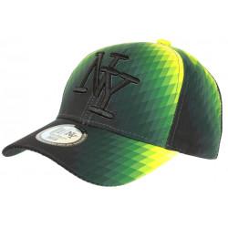 Casquette NY Jaune et Verte Design Seventies Originale Baseball Heptys CASQUETTES Hip Hop Honour