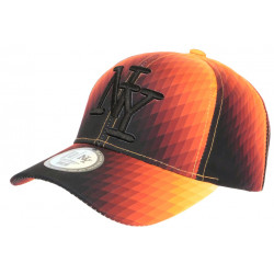 Casquette NY Orange et Noire Design Seventies Original Baseball Heptys CASQUETTES Hip Hop Honour