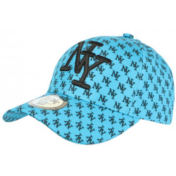 Casquette Enfant Bleu Ciel et Noire Streetwear NY Baseball Avenue 7 a 11 ans Casquette Enfant Hip Hop Honour