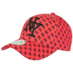 Casquette Enfant Rouge et Noire Streetwear Fashion NY Baseball Avenue 7 a 11 ans Casquette Enfant Hip Hop Honour