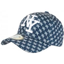 Casquette NY Bleue et Noire Graphisme New York Fashion Baseball Avenue CASQUETTES Hip Hop Honour