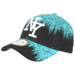 Casquette Enfant Turquoise et Noire Urban Jungle NY Baseball de 7a 12 ans Casquette Enfant Hip Hop Honour
