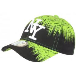 Casquette Enfant Verte et Noire Mode Urban Jungle NY Baseball de 7a 12 ans Casquette Enfant Hip Hop Honour