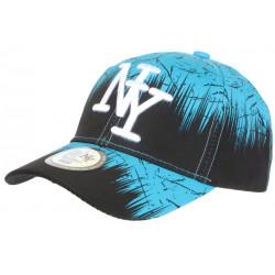 Casquette NY Bleue et Noire Bad Jungle Streetwear Tendance Baseball CASQUETTES Hip Hop Honour