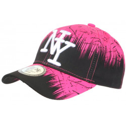Casquette NY Rose et Noire Bad Jungle Look Streetwear Fashion Baseball CASQUETTES Hip Hop Honour