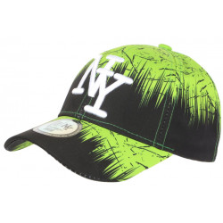 Casquette NY Verte et Noire Bad Jungle Graphisme Streetwear Fashion Baseball CASQUETTES Hip Hop Honour