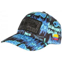 Casquette El Patron Bleue Colombia Print Streetwear Fashion Baseball Medellin CASQUETTES SKR