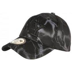 Casquette Baseball Noire Eclairs Gris Fashion Streetwear Stormy CASQUETTES Hip Hop Honour