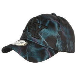Casquette Baseball Noire Eclairs Bleus Violets Streetwear Stormy CASQUETTES Hip Hop Honour