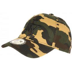 Casquette NY Enfant Militaire Verte Camouflage Armee Chief 7 à 12 ans Casquette Enfant Hip Hop Honour