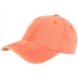 Casquette Baseball Orange en Pur Coton Tendance et Confortable Sellyk CASQUETTES Léon montane
