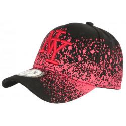 Casquette NY Enfant Noire et Rouge Print Tags Streetwear Wavy 7 a 12 ans Casquette Enfant Hip Hop Honour