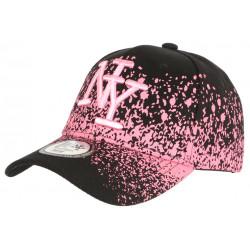 Casquette NY Rose et Noire Esprit Tags Streetwear Baseball Wava CASQUETTES Hip Hop Honour