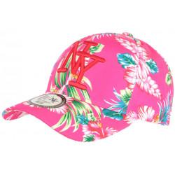 Casquette NY Rose et Blanche a Fleurs Exotiques Fashion Baseball Hawai CASQUETTES Hip Hop Honour