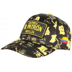 Casquette El Patron Jaune et Noire Medellin Fashion Streetwear Baseball Colombia CASQUETTES SKR