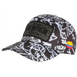 Casquette El Patron Noire et Grise Strass Streetwear Colombia Medellin Baseball CASQUETTES SKR