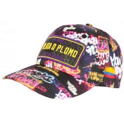 Casquette Plata o Plomo Noire et Violette Strass Streetwear Bad Colombia Baseball CASQUETTES SKR
