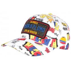 Casquette Plata o Plomo Blanche et Beue Strass Streetwear Never Colombia Baseball CASQUETTES SKR