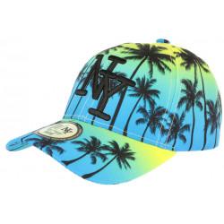 Casquette NY Bleue et Jaune Fashion Tropical Sunrise Baseball CASQUETTES Hip Hop Honour