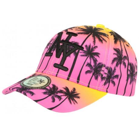 Casquette NY Rose et Orange Tropical Fashion Sunrise Baseball CASQUETTES Hip Hop Honour