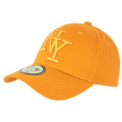 Casquette NY Orange Broderie Relief Tendance Visiere Baseball Stazky CASQUETTES Hip Hop Honour