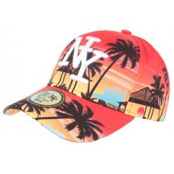 Casquette NY Orange Tropicale Design Palmiers Paradise Baseball CASQUETTES Hip Hop Honour