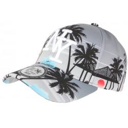 Casquette NY Grise et Noire Tropicale Palmiers Paradise Baseball CASQUETTES Hip Hop Honour