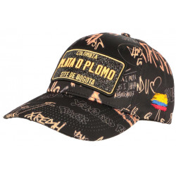 Casquette Plata o Plomo Orange et Noire Strass Fashion Rich Colombia Baseball CASQUETTES SKR