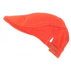 Casquette Plate Orange en Coton Sportswear Eté Homme et Femme Menyk CASQUETTES Léon montane