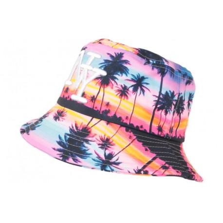 Chapeau Bob NY Bleu Rose Fashion Exotic Tropical Night BOB Hip Hop Honour