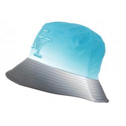 Chapeau Bob NY Bleu et Gris Fashion Streetwear Renbo BOB Hip Hop Honour