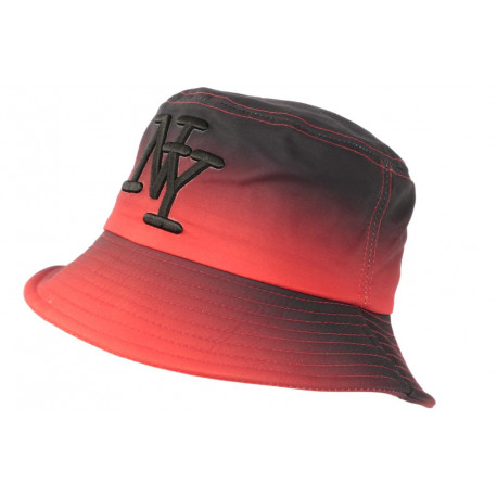 Chapeau Bob NY Rouge et Noir Streetwear Fashion Renbo BOB Hip Hop Honour