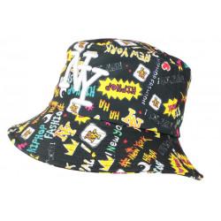 Chapeau Bob NY Noir et Jaune Original Streetwear Fashion Haha BOB Hip Hop Honour
