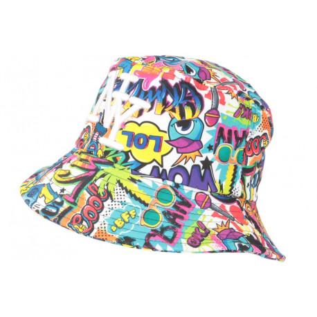 Chapeau Bob NY Violet et Bleu Original Streetwear Cartoons Wow BOB Hip Hop Honour