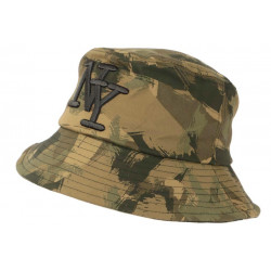 Chapeau Bob NY Camouflage Vert et Marron Militaire Fashion Boby BOB Hip Hop Honour