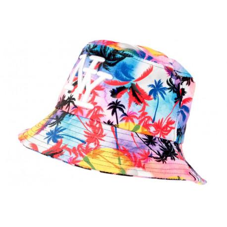 Chapeau Bob NY Bleu Violet Tropical Streetwear Sunset BOB Hip Hop Honour