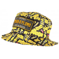 Chapeau Bob Plata o Plomo Jaune et Noir Colombia Streetwear Fashion BOB SKR