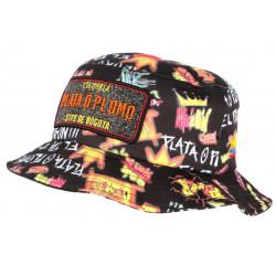 Chapeau Bob Plata o Plomo Orange et Noir Bogota Streetwear Fashion BOB SKR