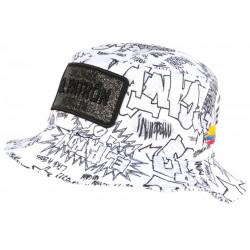 Chapeau Bob El Patron Blanc et Noir Medellin Colombia Streetwear BOB SKR