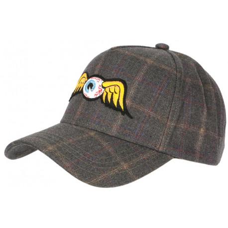 Casquette Von Dutch Retro Flying Eyeball Custom Baseball Tweed CASQUETTES VON DUTCH