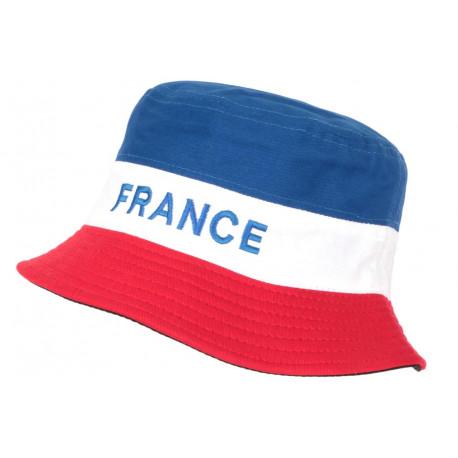 Chapeau Bob France Bleu Blanc Rouge Reversible Noir en coton BOB Nyls Création