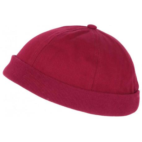 Bonnet Docker Bordeaux Rouge en Coton Homme et Femme Mode Hodok BONNETS Nyls Création