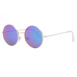 Lunettes Soleil Rondes Miroir Bleu et Dorees homme femme Klom LUNETTES SOLEIL Eye Wear