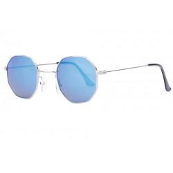 Lunettes De Soleil Octogonales Miroir Bleu Tendance Eighty LUNETTES SOLEIL Eye Wear